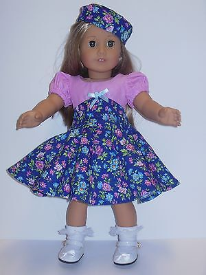 """Doll Clothes-Handmade Dress for American Girl or other 18"""" dolls-Age 3+"""