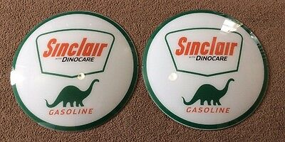 Sinclair Gasoline Globe Glass Lens Sign Dino Care Gas Pump