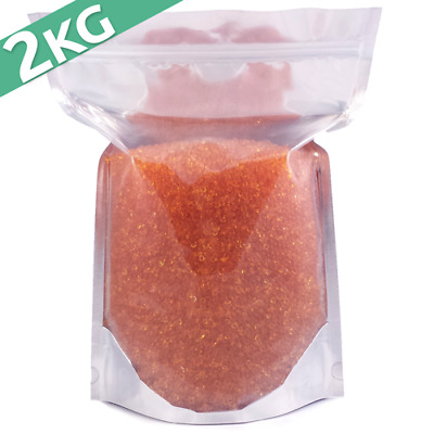 2kg Silica Gel Desiccant Moisture Absorber Beads - Indicating (ORANGE) Reusable