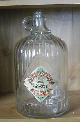 Vintage 1 gallon glass bottle Elk Brand apple cider vinegar