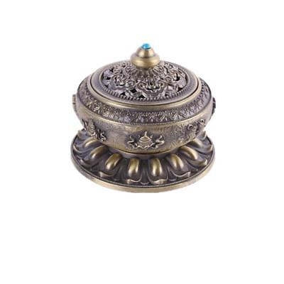 10cm Vintage Stick Cone Holder Smoke Aroma Incense Burner With Cover Bronze