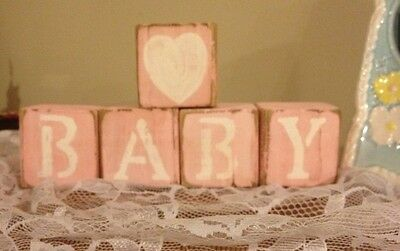 Baby Blocks Personalized Hand Painted Name GIFT Rustic WOOD PRICED $1.95/BLOCK