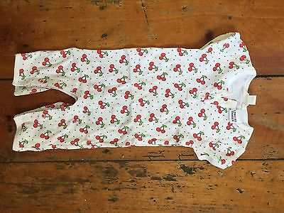 Country Road Onesie For Baby Girl, Cherry Print, Size 000