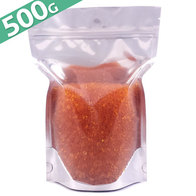 500g Silica Gel Desiccant Moisture Absorber Beads - Indicating (ORANGE) Reusable
