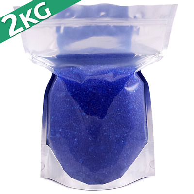 2kg Silica Gel Desiccant Moisture Absorber Beads  - Indicating (BLUE) Reusable