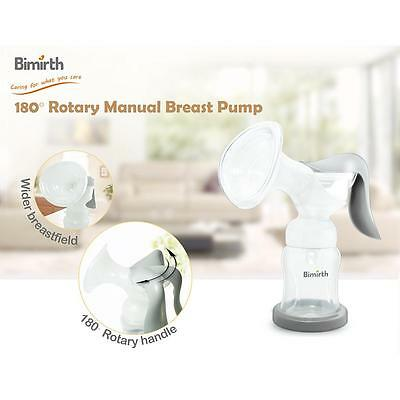 180° Rotary Manual Breast Pump More Comfy For Sucking Milk PP & Silicone Safe