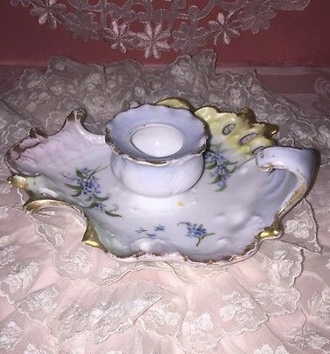 Antique C T GERMANY Porcelain CANDLE HOLDER Possibly Inkwell Multi Colored