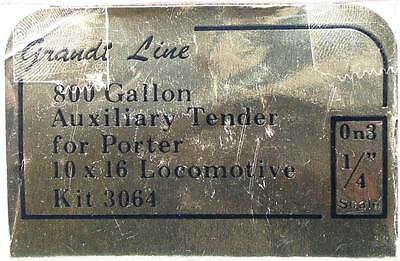 Grandt Line On3 800 Gallon Auxilliary Tender for Porter Locomotive Kit CK-177