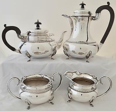 English Sterling Silver Tea Set    George Vi    Richard Chandler    1947