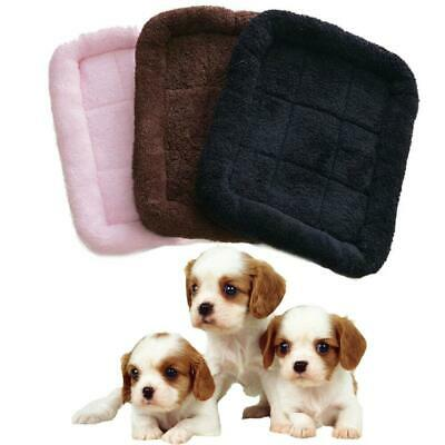 3 Colors Pet Bed Cushion Mat Pad Dog Cat Cage Kennel Crate Warm Cozy Soft House