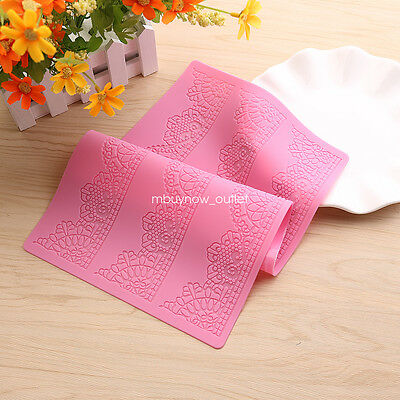 Silicone Lace Flower Mat Cake Mould Fondant Chocolate Bakeware Decorating Tools