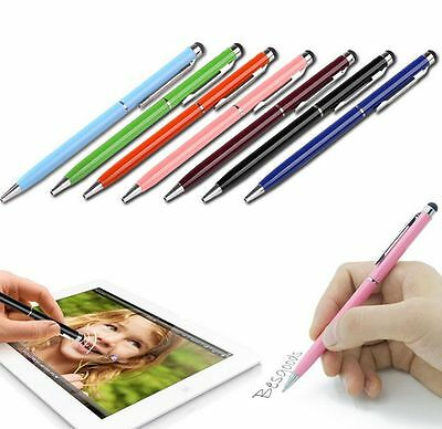 10pcs 2 in1 Touch Screen Stylus Ballpoint Pen for iPad iPhone Samsung Tablet RF