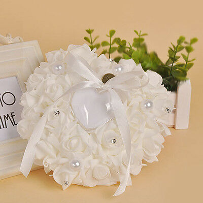 Romantic Wedding Favors Heart Shaped Ring Bearer Box Ring Cushion Pillow New