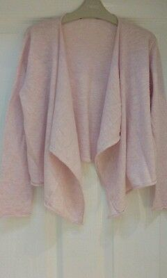 Next girls waterfall pink cardigan. Age 10
