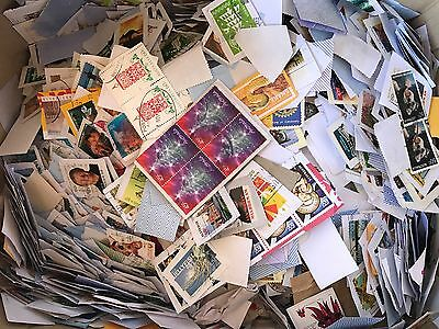 200g All Stamped Used Australian Stamps On Papers Bulk (kiloware)