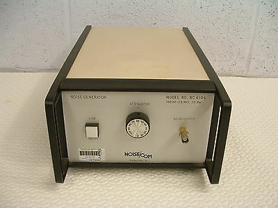 NoiseCom Model No NC6106 RF Noise Generator 100 Hz to 25 MHz 20mW