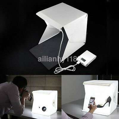 Portable Mini Photo Studio Box Photography Backdrop built-in Light Photo Box UK
