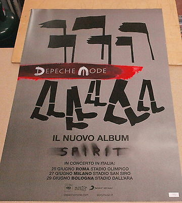 Depeche Mode Poster Only Promo Tour Spirit Limited Megarare Numbered 102