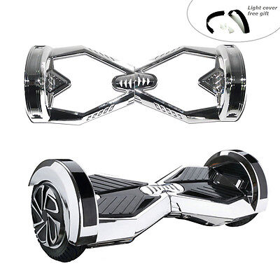 "8"" Self Balancing Electric Scooter Hoverboard Outer Shell Cover DIY Kits Silver"