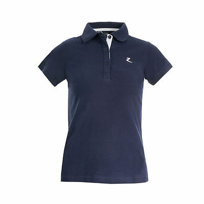 NEW! Horze Trina Polo Shirt Navy Blue Sizes 8 - 16