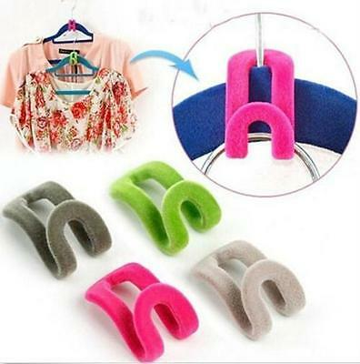 10pcs Creative Mini Flocking Clothes Hanger Easy Hook Closet Organizer Now