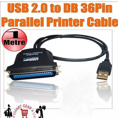 USB 2.0 to DB 36 Pin Parallel IEEE-1284 Printer Adapter Convertor Cable Win 7 XP