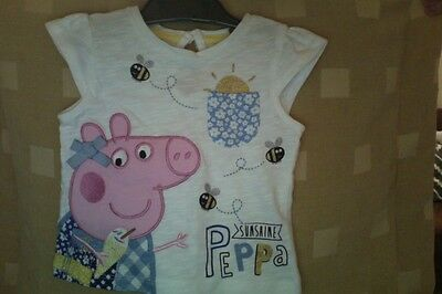 """Baby girl t.shirt new Peppa Pig"""" from Mothercare 3/6 month"""
