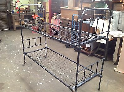Vintage wrought iron double bunk bed