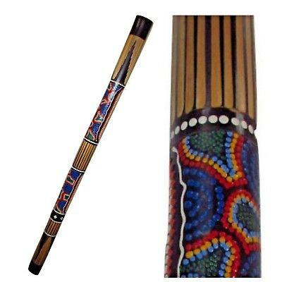 Bamboo Didgeridoo Carved Aboriginal Painted 1.2m Percussion Wind World Music