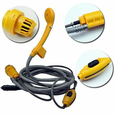 12V Portable Automobile Shower Set Water Pump Travel Camp Car Caravan Boat AU