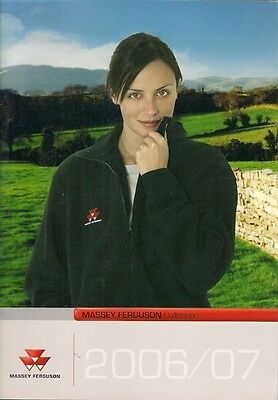 Massey Ferguson Collection Branded Merchandise 2006-07 UK Market Sales Brochure