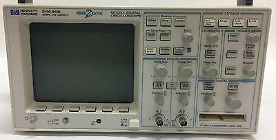 HP 54645D 100MHZ 2 CHANNEL Mixed Signal Oscilloscope + 54657A HP Storage module