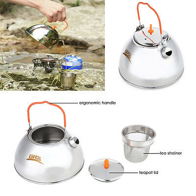 BRS-TS07 800ML Stainless Steel Portable Outdoor Coffee Pot Water Kettle Teapot