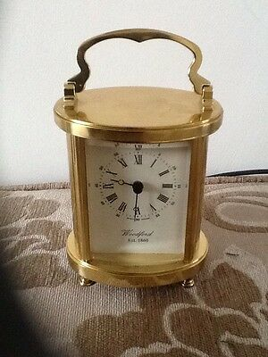 Vintage Style WOODFORD Carriage Clock Brass