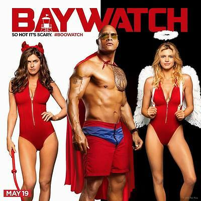 "8997 Hot Movie TV Shows - Baywatch 2017 1 14""x14"" Poster"
