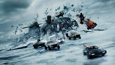 "10400 Hot Movie TV Shows - The Fate of the Furious 2017 9 24""x14"" Poster"