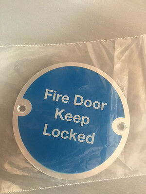 'Fire door keep locked' sign 75mm - Free Delivery