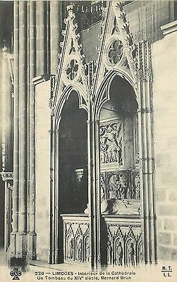 Cp Limoges Interieur Cathedrale Tombeau