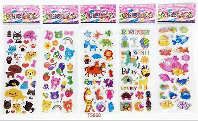 Wholesale 3D cartoon small Stickers lot Children's Party Gifts 21x7.5cm toys