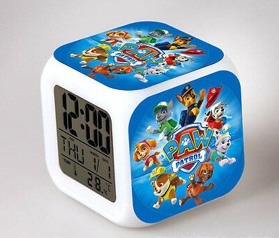 PAW Patrol LED 7 Colors Change Night light Colorful kids Alarm Clock Gift