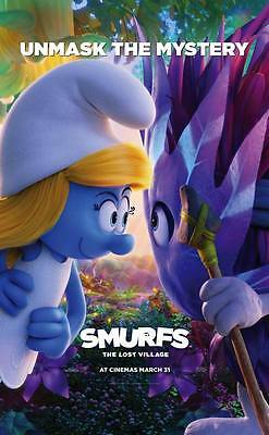 """10201 Hot Movie TV Shows - Smurfs The Lost Village 2017 5 14""""x22"""" Poster"""