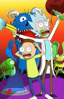 "146 Rick and Morty - American Adult Animated TV Series 24""x37"" Poster"