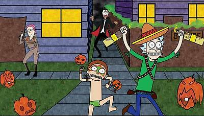 "208 Rick and Morty - American Adult Animated TV Series 42""x24"" Poster"
