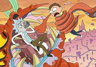 "273 Rick and Morty - American Adult Animated TV Series 33""x24"" Poster"