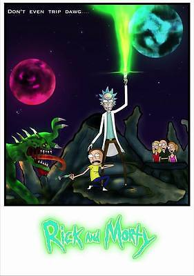 "283 Rick and Morty - American Adult Animated TV Series 24""x34"" Poster"