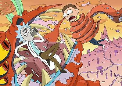 "257 Rick and Morty - American Adult Animated TV Series 33""x24"" Poster"