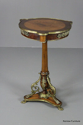 Antique Style French Geuridon Occasional Side Table