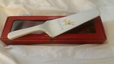 pottery barn reindeer Rudolph cake pie server EUC