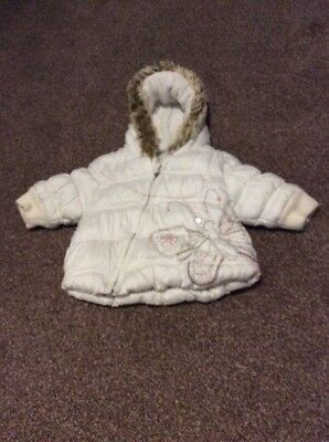 Next Little Girls (3-6 Months) Warm Winter Coat With Hood.