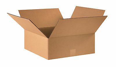 "Box Partners Flat Corrugated Boxes 16"" x 16"" x 6"" Kraft 25/Bundle 16166"